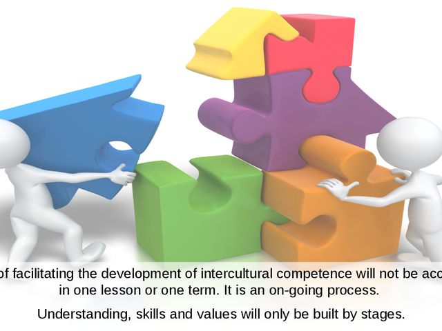 The work of facilitating the development of intercultural competence will not...