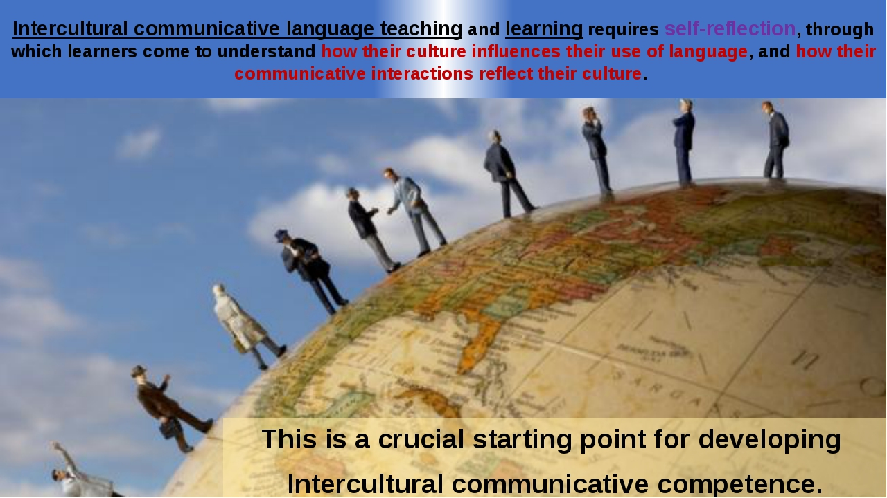 This is a crucial starting point for developing Intercultural communicative c...