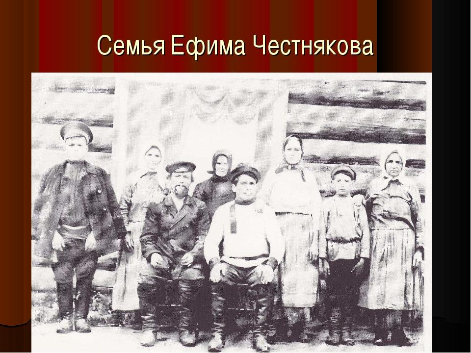 Семья Ефима Честнякова