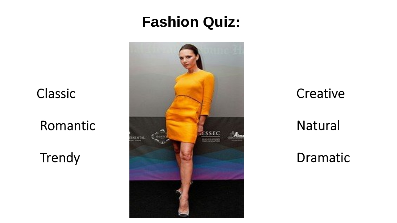 Fashion Quiz: