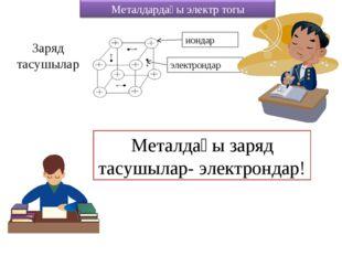 Заряд тасушылар Металдағы заряд тасушылар- электрондар!