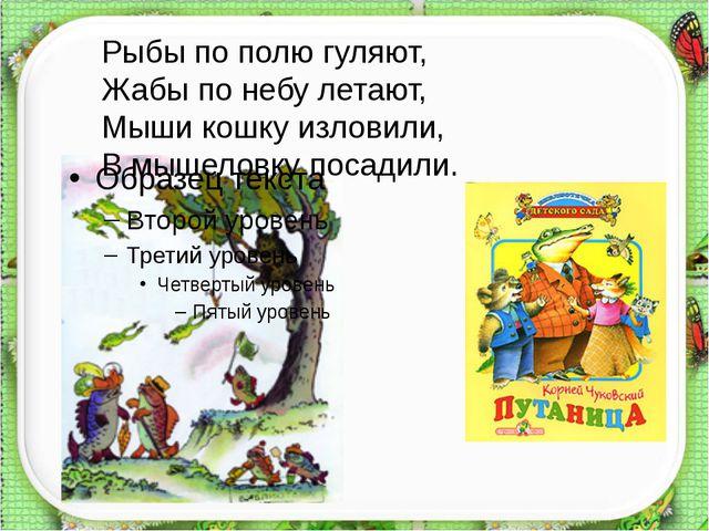 http://aida.ucoz.ru Рыбы по полю гуляют, Жабы по небу летают, Мыши кошку изл...