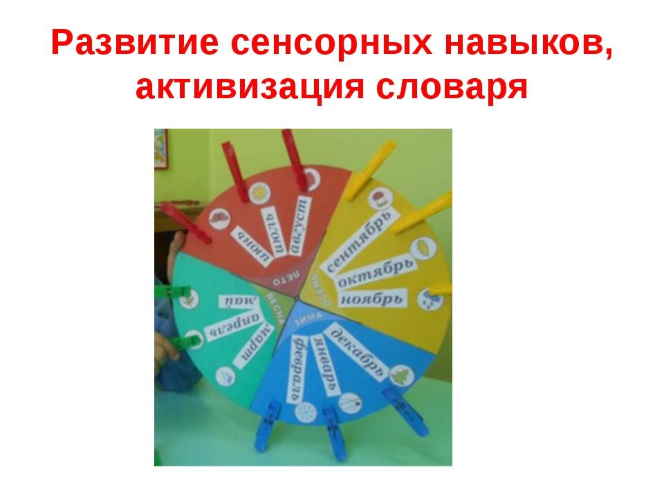Развитие сенсорных навыков, активизация словаря