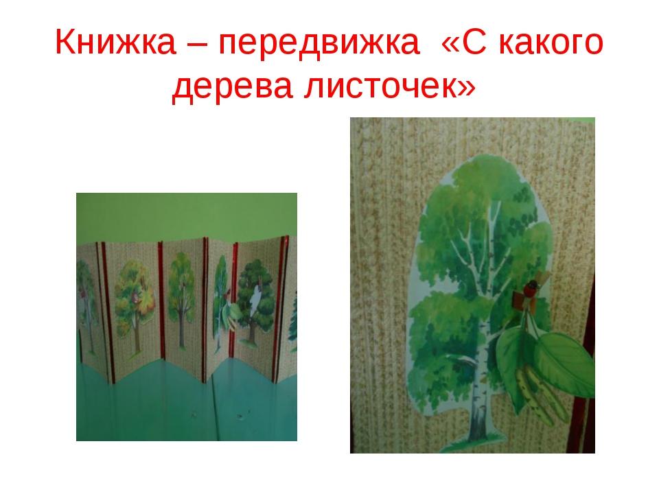 Книжка – передвижка «С какого дерева листочек»