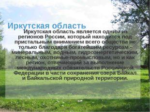 Иркутская область Иркутская область является одним из регионов России, которы
