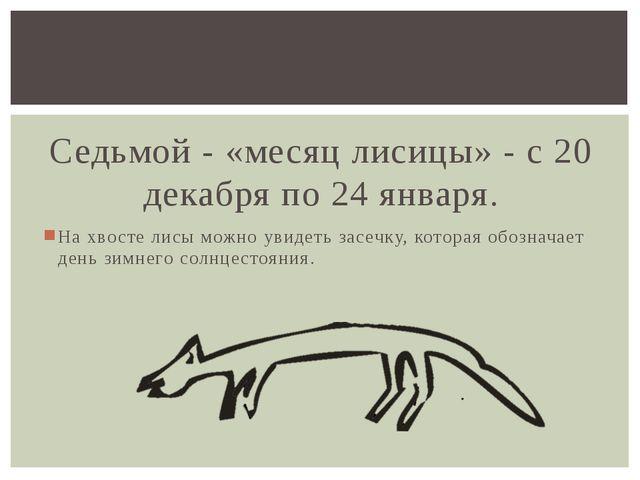 Седьмой - «месяц лисицы» - с 20 декабря по 24 января. На хвосте лисы можно у...
