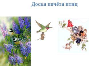 Доска почёта птиц