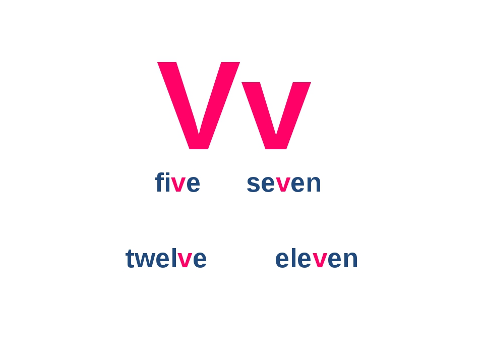 Vv five seven twelve eleven
