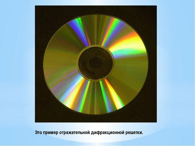 Это пример отражательной дифракционной решетки.