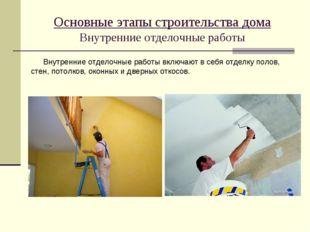 Основные этапы строительства дома Внутренние отделочные работы Внутренние отд