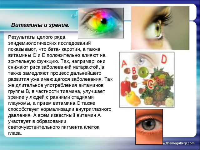 www.themegallery.com Витамины и зрение. Результаты целого ряда эпидемиологиче...