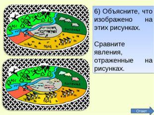 6) Объясните, что изображено на этих рисунках. Сравните явления, отраженные н