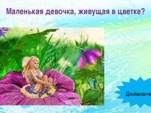 Маленькая девочка, живущая в цветке? Дюймовочка