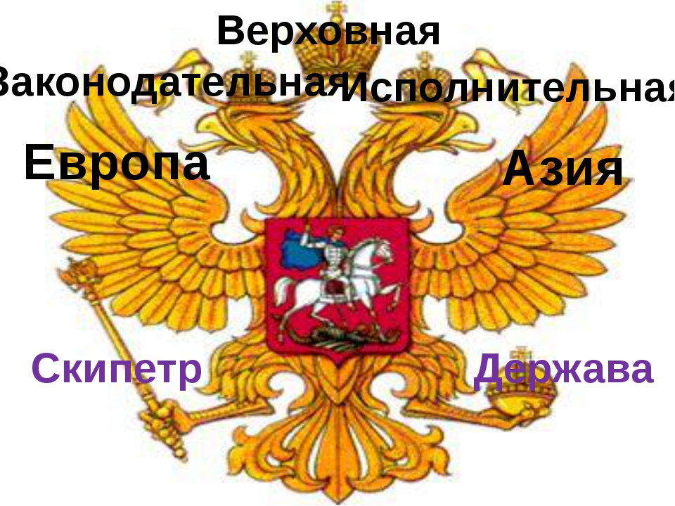 Европа Азия Верховная Законодательная Исполнительная Скипетр Держава