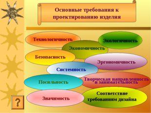 Основные требования к проектированию изделия Технологичность Экономичность Эк