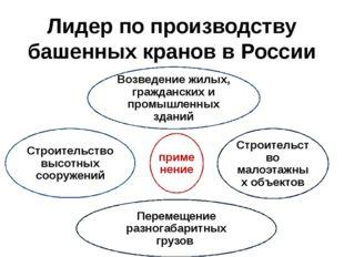 Лидер по производству башенных кранов в России