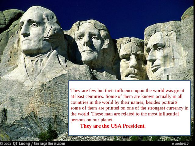 They are few but their influence upon the world was great at least centuries...