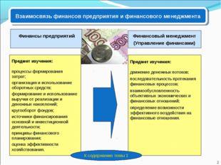 Предмет изучения: процессы формирования затрат; организация и использование