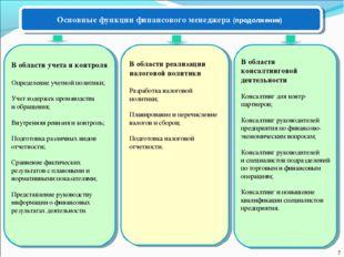 В области учета и контроля Определение учетной политики; Учет издержек произв