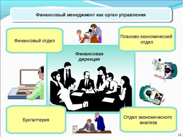 Финансовый менеджмент как орган управления Планово-экономический отдел Финанс...