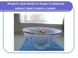 Модель круговорота воды в природе можно приготовить самим