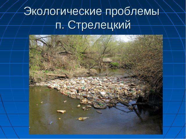 Экологические проблемы п. Стрелецкий