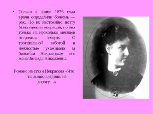 Только в конце 1876 года врачи определили болезнь — рак. По их настоянию поэт
