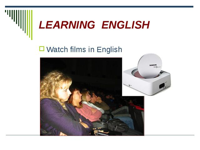 LEARNING ENGLISH Watch films in English