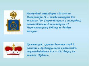 Лазоревый штандарт с вензелем Александра II – символизирует все знамёна (20 Г