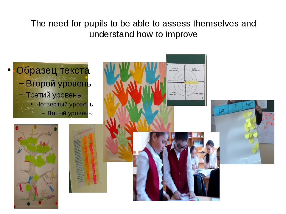 The need for pupils to be able to assess themselves and understand how to imp...