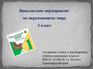 Внеклассное мероприятие по окружающему миру 1 класс Богданова Галина Александ