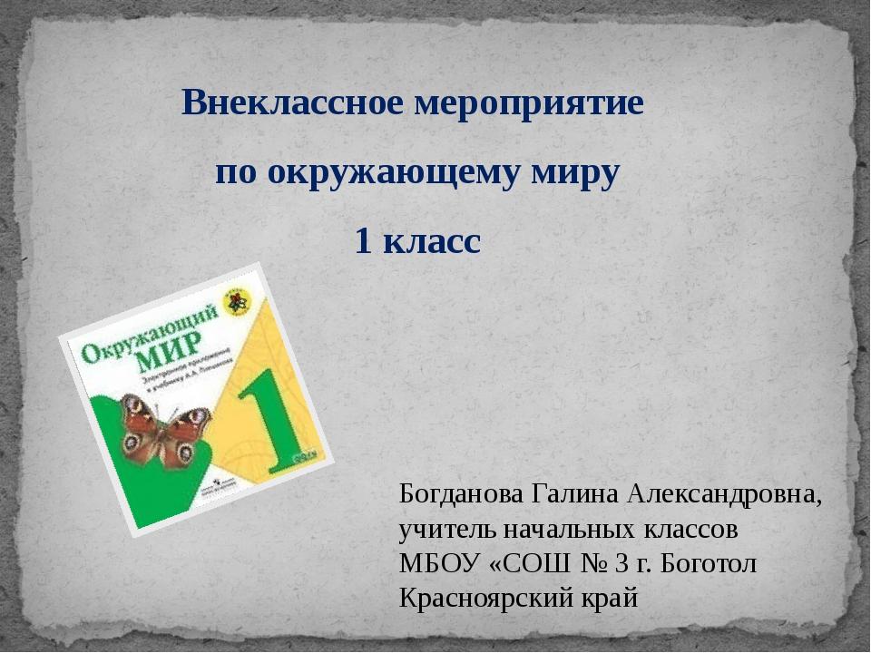 Внеклассное мероприятие по окружающему миру 1 класс Богданова Галина Александ...
