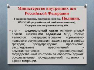 Министерство внутренних дел Российской Федерации Госавтоинспекция, Внутренние