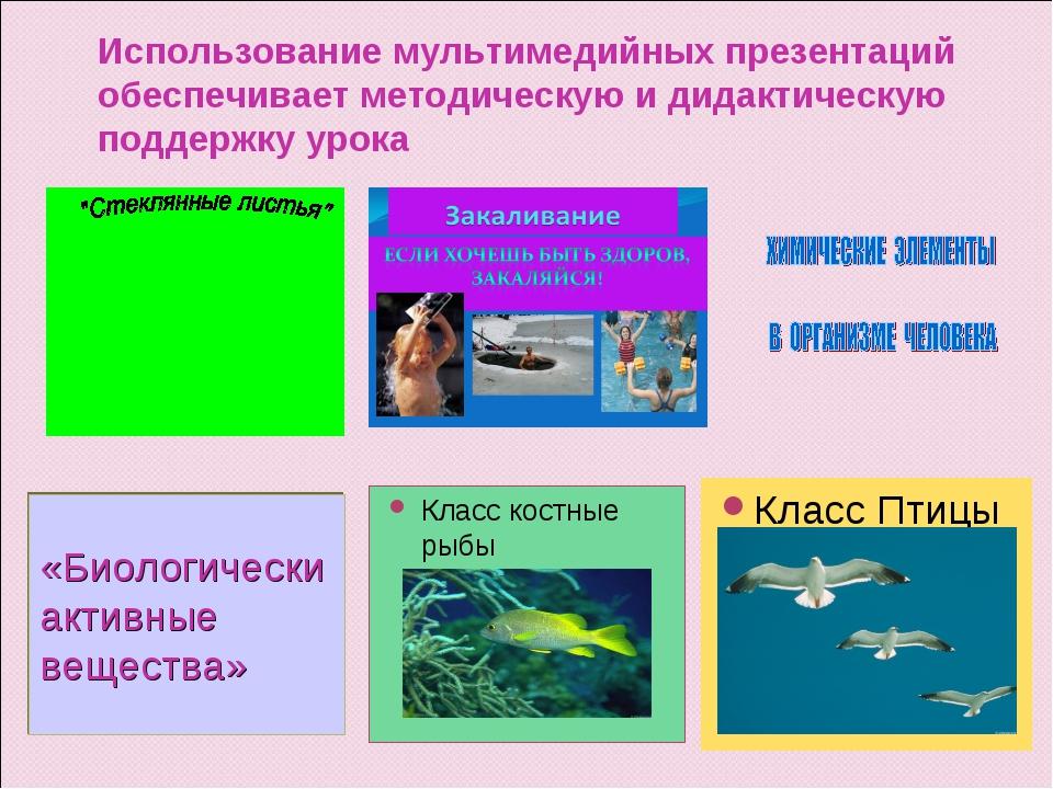 Использование мультимедийных презентаций обеспечивает методическую и дидактич...