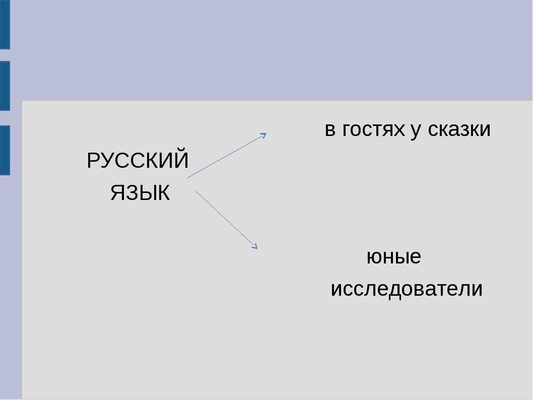 в гостях у сказки          РУССКИЙ                ЯЗЫК...