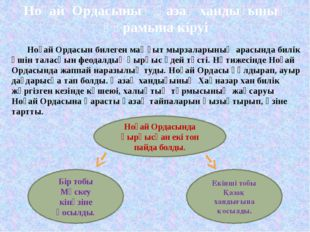 Ноғай Ордасының қазақ хандығының құрамына кіруі  Ноғай Ордасын билеген маңғ