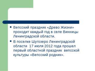 Вепсский праздник «Древо Жизни» проходит каждый год в селе Винницы Ленинградс