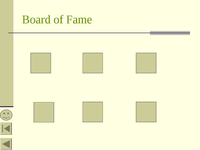 Board of Fame
