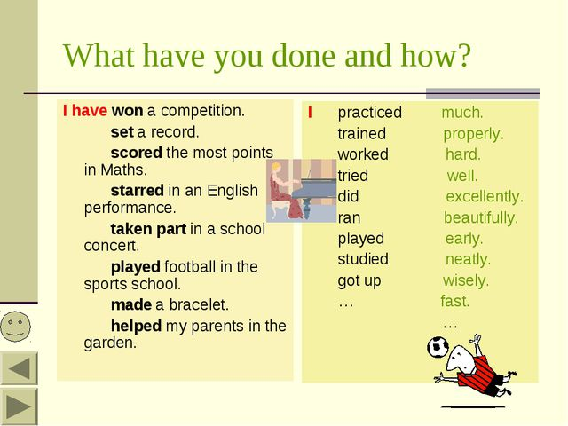 What have you done and how? I have won a competition. set a record. scored th...