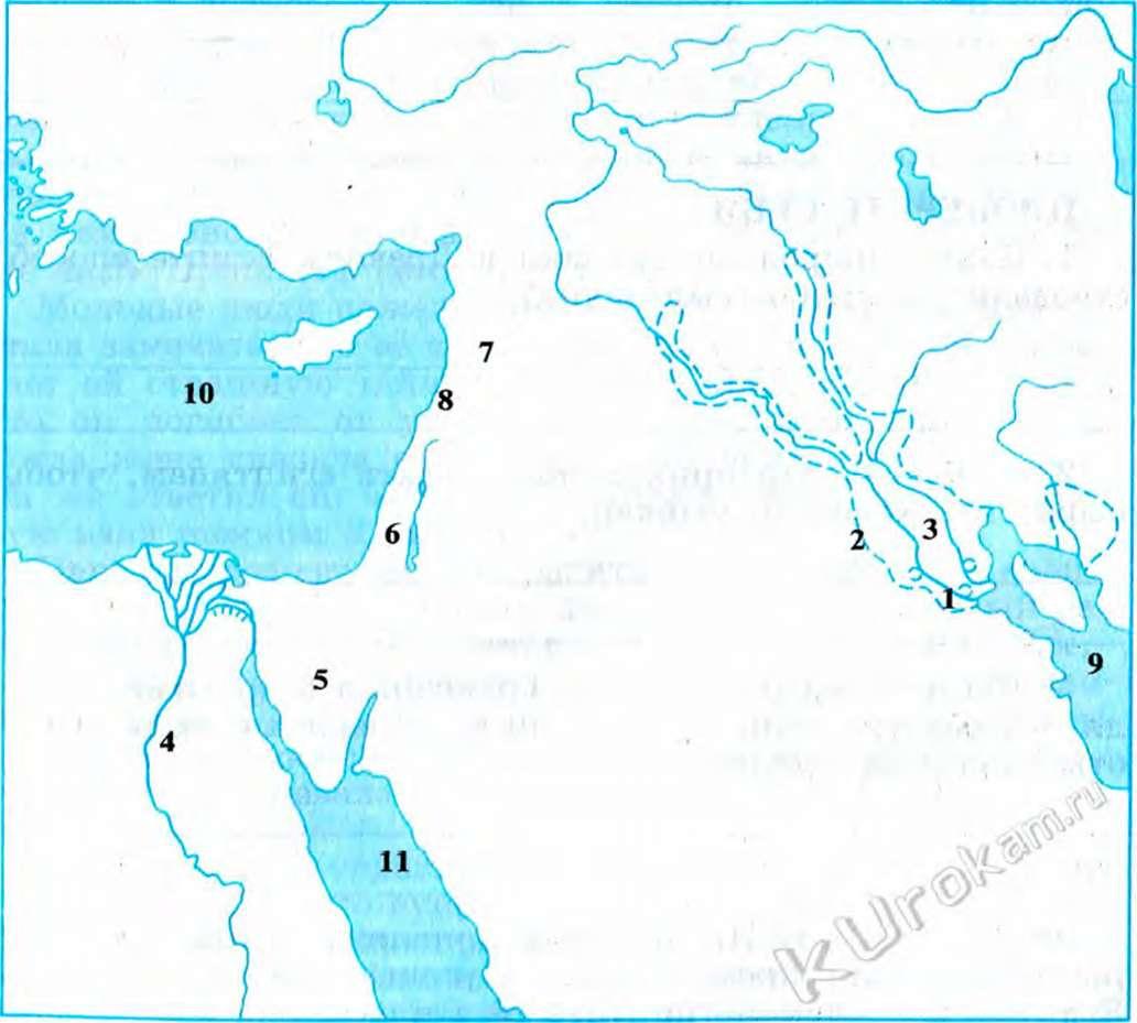 Контурная карта 5 класс двуречье