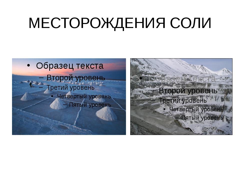 МЕСТОРОЖДЕНИЯ СОЛИ