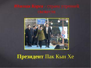 Президент Пак Кын Хе Южная Корея - страна утренней свежести