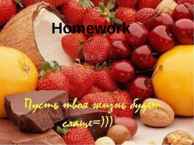 Homework Ex-s
