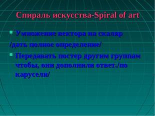 Спираль искусства-Spiral of art Умножение вектора на скаляр /дать полное опре
