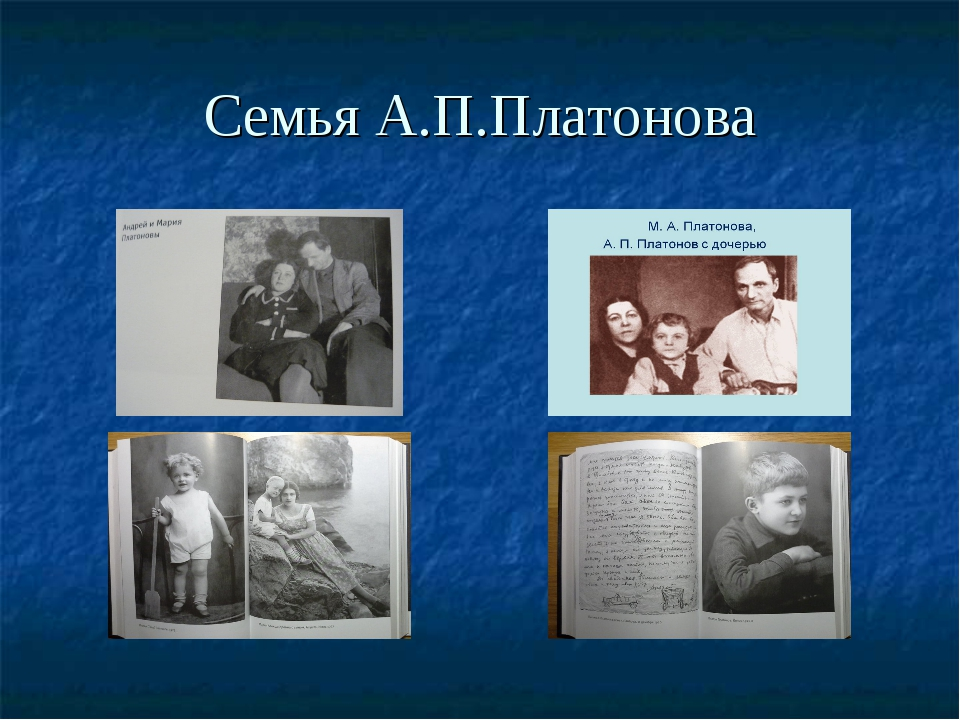 Семья А.П.Платонова