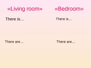 «Living room» «Bedroom» There is… There are… There are… There is…