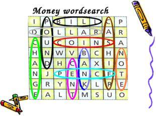 Money wordsearch