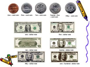 one – dollar note five – dollar note ten – dollar note twenty – dollar note