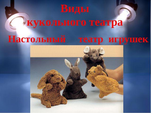 Виды кукольного театра Настольный театр игрушек.