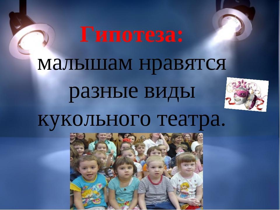Гипотеза: малышам нравятся разные виды кукольного театра.